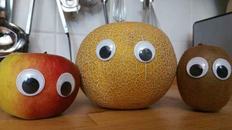 Obst mit Augen
